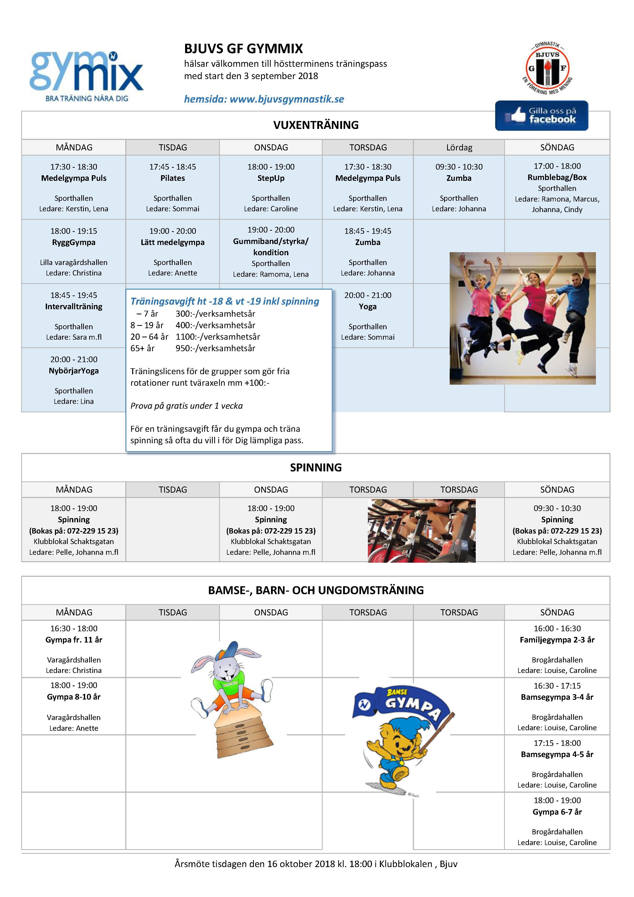 Bjuvs GF höst schema 2018 (1)